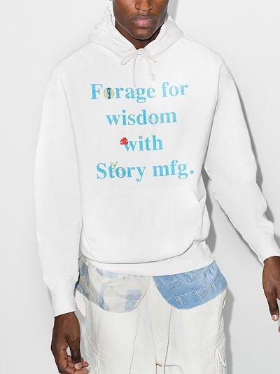 Bloom slogan hoodie