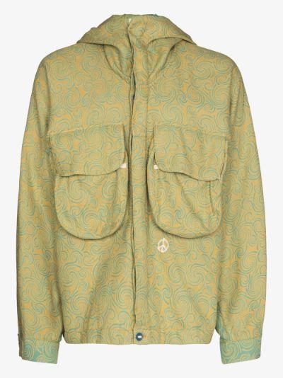 Forager spiral print hooded jacket