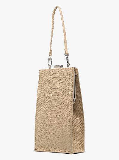 Beige 4.2 mini envelope leather bag