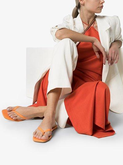orange 2.2 leather sandals