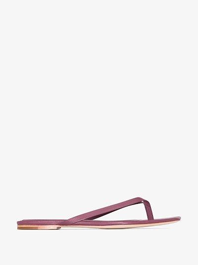 purple 2.2 leather sandals