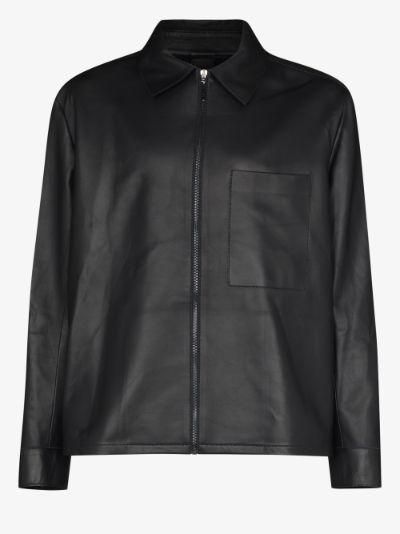 Nebo zip-up leather jacket