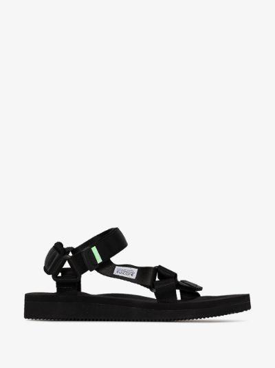 black DEPA-Cab strap sandals