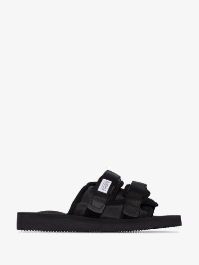 black MOTO-Cab strap sandals