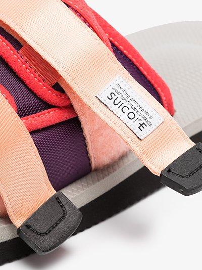 Multicoloured MOTO-Cab strap sandals