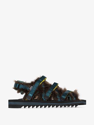 Multicoloured OG-299 faux fur sandals
