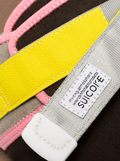 multicoloured Zavo Mab suede slippers