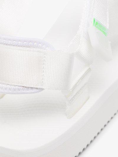 White DEPA-Cab strap sandals