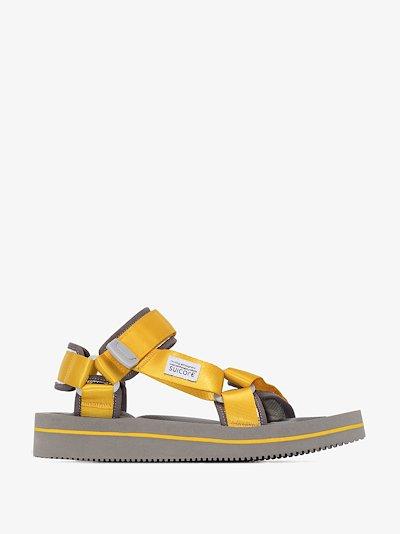 Yellow DEPA-V2EU3 strap sandals