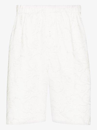 elasticated cotton shorts
