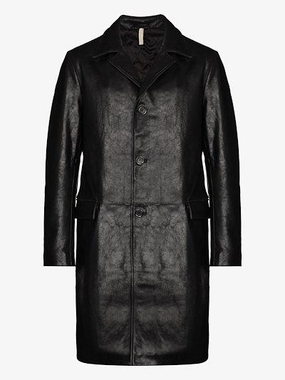 single-breasted Leather Jacket