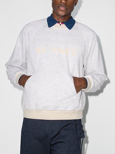 logo print sweater