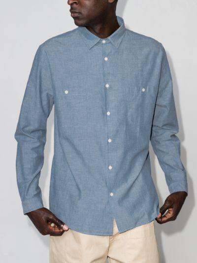 button-up cotton shirt