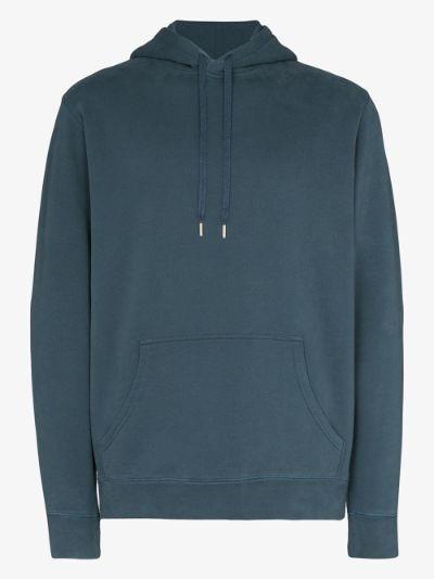 loopback cotton overhead hoodie