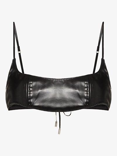 vinyl lace-up bra top