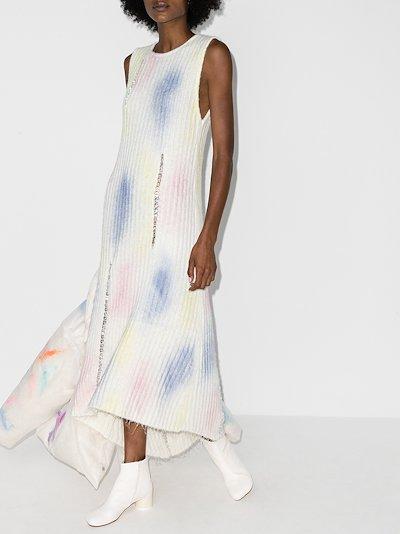 Bubble embellished knit dress
