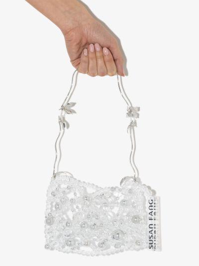 clear Bubble beaded mini bag