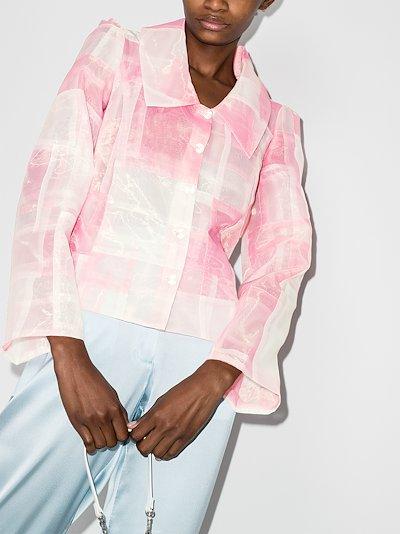 ruffled patchwork jacket