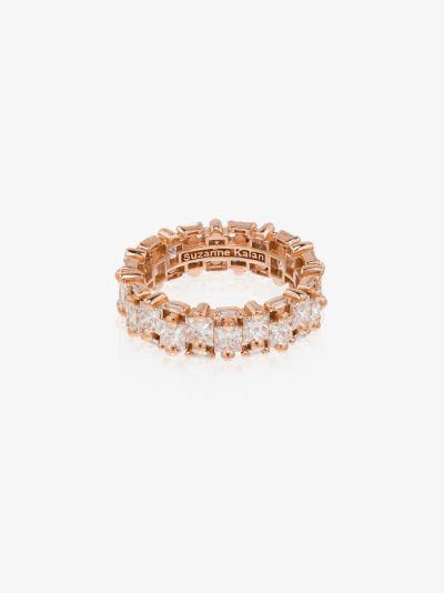 18K rose gold diamond eternity ring