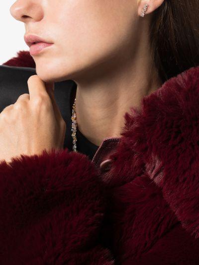 18K rose gold Firework diamond earrings