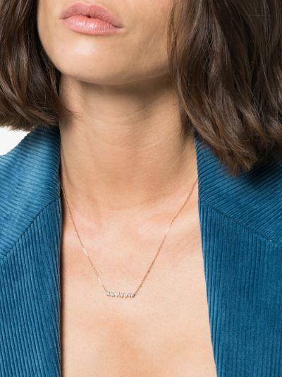 18K rose gold Fireworks diamond necklace