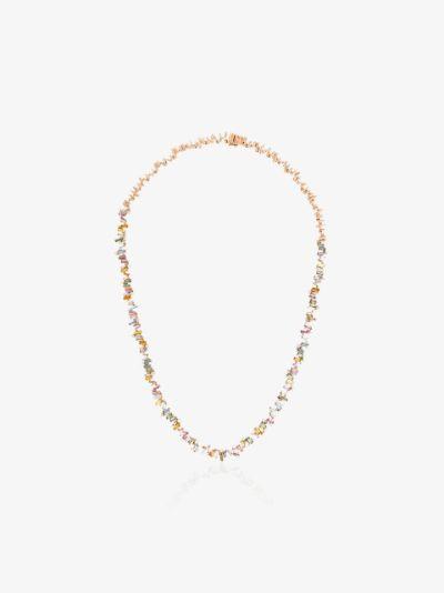 18K rose gold Fireworks sapphire diamond necklace