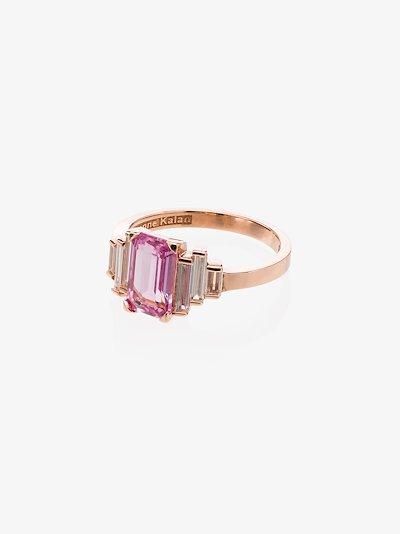 18K rose gold Fireworks sapphire diamond ring
