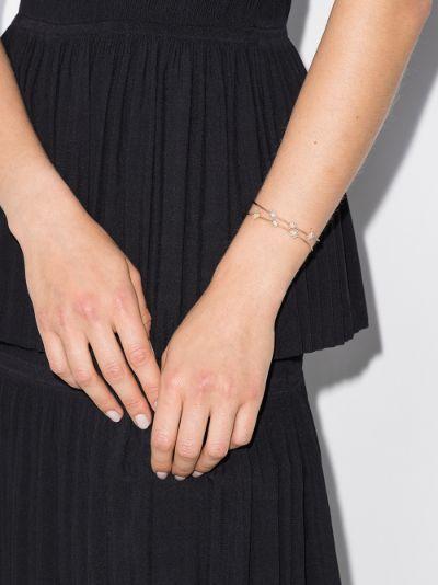 18K rose gold flower diamond bracelet