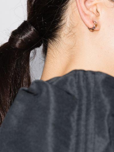 18K rose gold Pastel Fireworks sapphire earrings