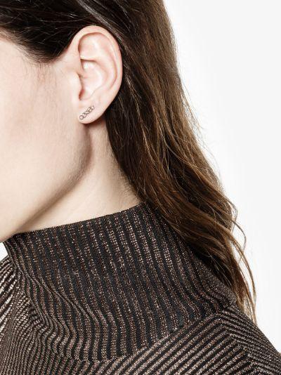 18K rose gold Post diamond earrings
