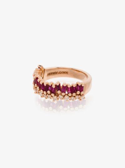 18K rose gold Shimmer ruby diamond ring