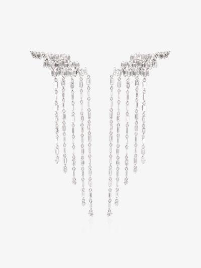 18K white gold Fireworks diamond drop earrings