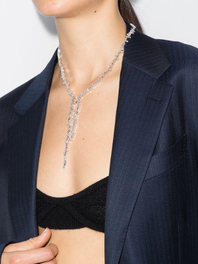 18K white gold Fireworks diamond necklace