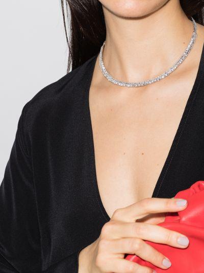 18K white gold Fireworks diamond tennis necklace
