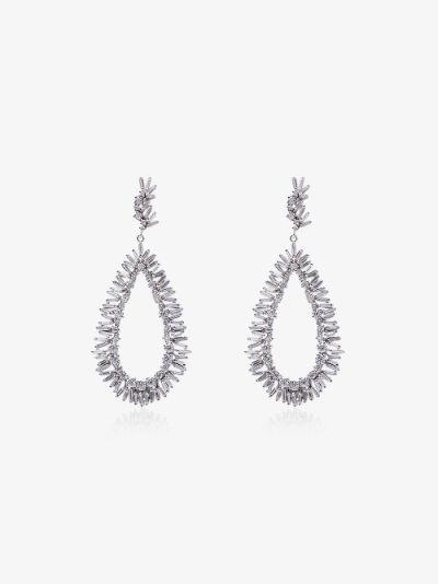 18K White Gold Pear Drop Diamond Earrings