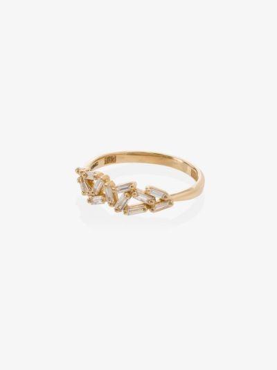 18K yellow gold Cluster diamond ring