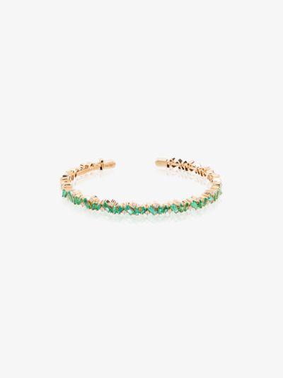 18K yellow gold Fireworks emerald frenzy diamond bracelet
