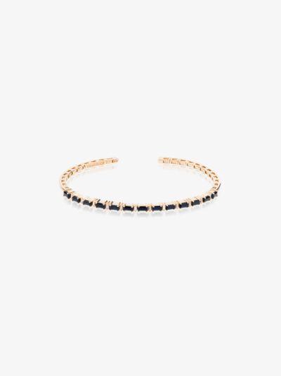 18K yellow gold Fireworks sapphire horizontal diamond bracelet