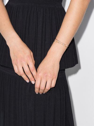 18K yellow gold flower diamond bracelet