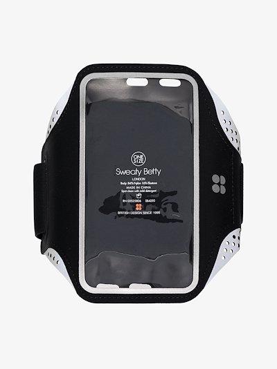 black iPhone 8 reflective armband