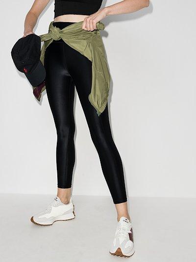 High Shine Cropped Workout Leggings