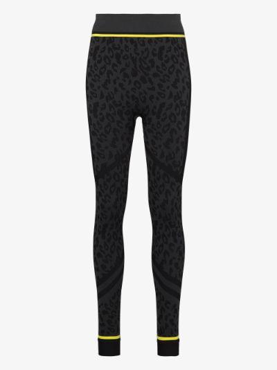leopard print base layer leggings