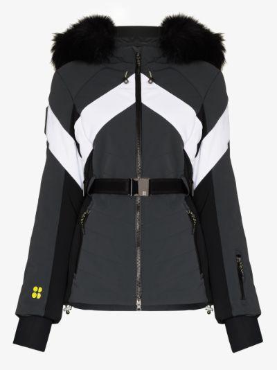 method belted ski jacket