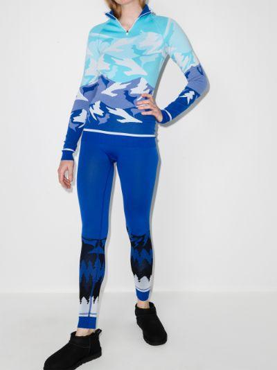 mountain motif base layer leggings