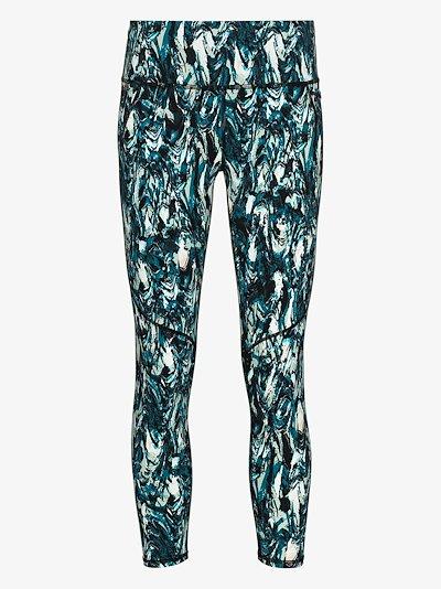 power 7/8 marble print leggings