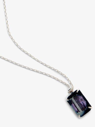 sterling silver Denim Octagonal Knife Edge II necklace