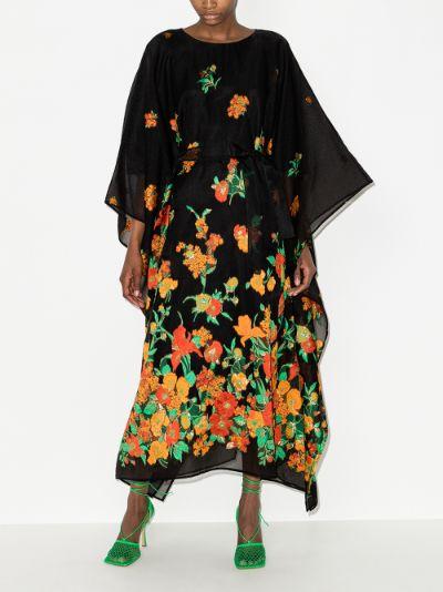 Giardino jacquard kaftan dress