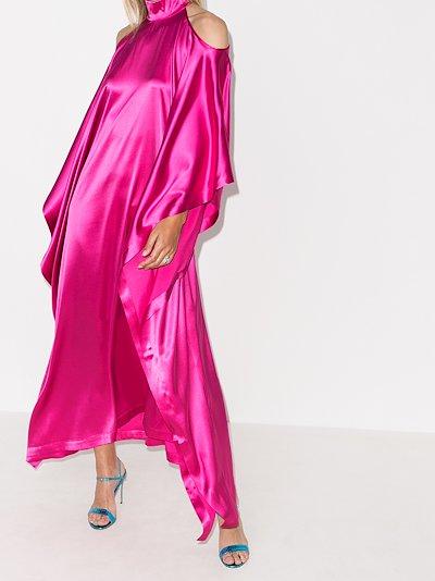 La Divina Cold Shoulder Silk Dress