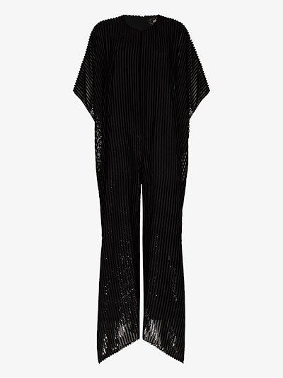 Nicoletta striped jumpsuit