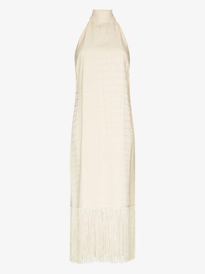 Olympia Fringed halterneck Dress